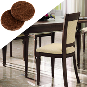 brown floor protectors chairl legs