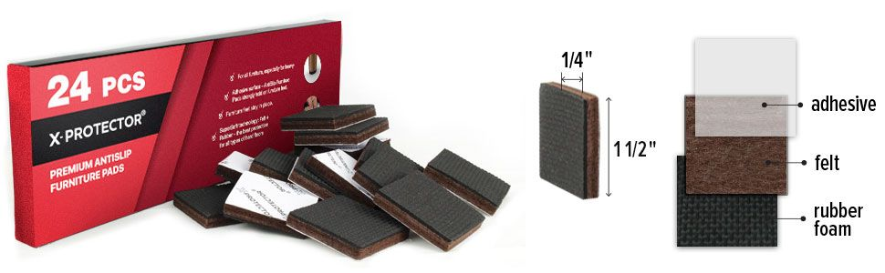 Non Slip Furniture Pads set 24 PCS