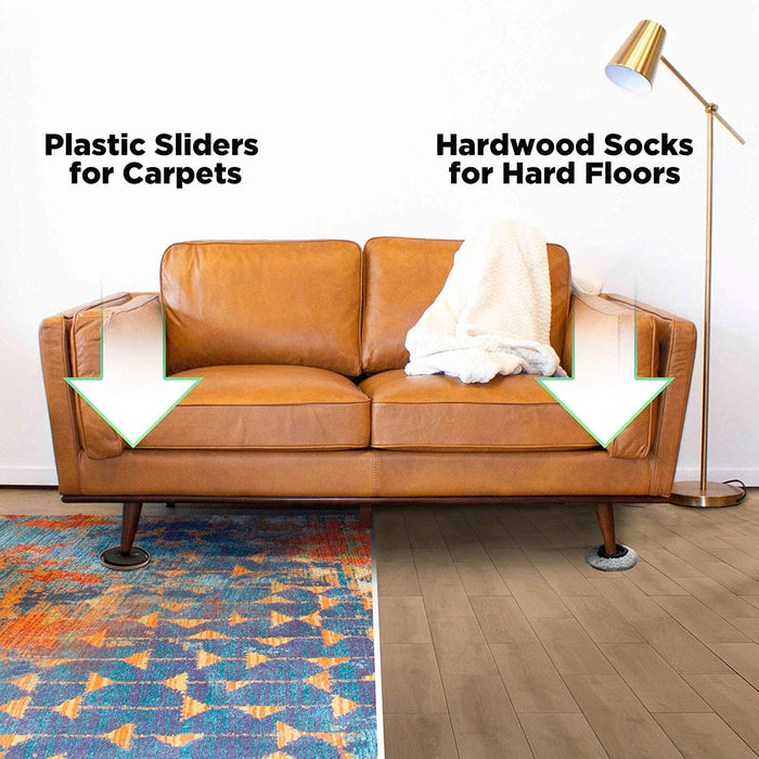 sofa sliders hard floor