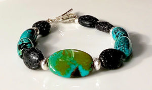 Elite>2x2x1 Turquoise & Lava Luxury Men's Bracelet