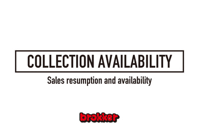 [brokker Official Shop] Sales resumption and availability.
