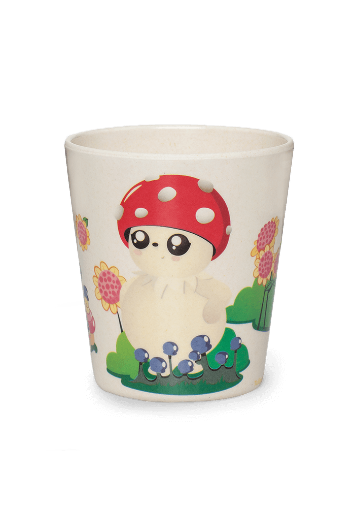 Bubble bamboo cup front