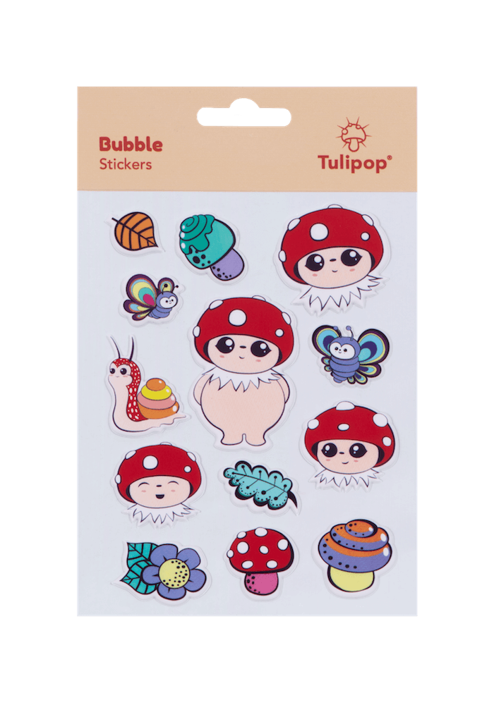Tulipop Puffy Stickers (4 Pack) Bubble