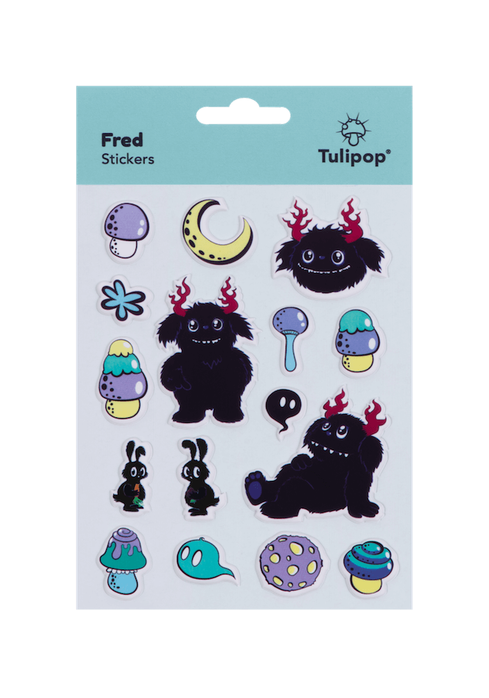 Tulipop Puffy Stickers (4 Pack) Fred