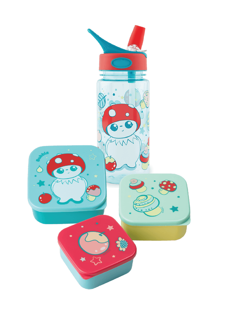 Bubble Water Bottle and Lunch Box Set