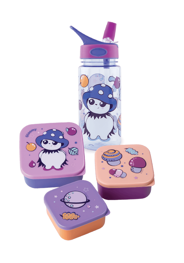 Gloomy Water Bottle and Lunch Box Set