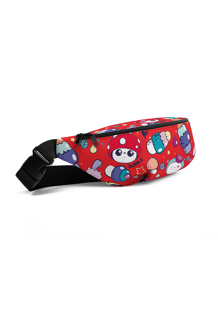 Red Pattern Fanny Pack