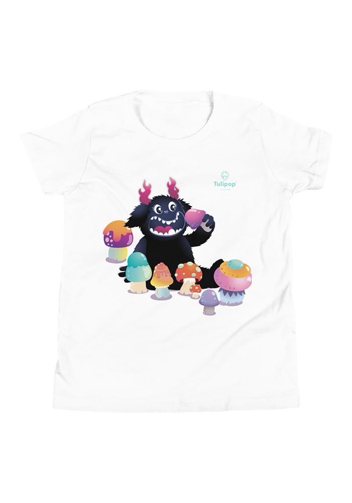 Fred Eating Mushrooms Youth Short Sleeve T-Shirt