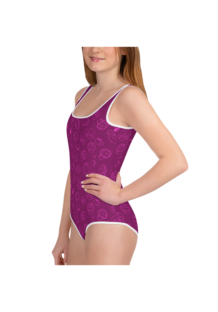 All-Over Simple Tulipop Pattern Swimsuit