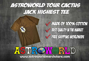 ASTROWORLD TOUR CACTUS JACK HIGHEST TEE
