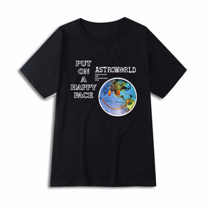 Lollapalooza Happy Face Shirt - Astroworld Merchandise