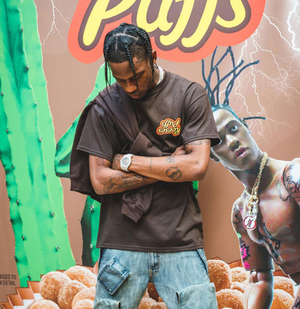 Travis Scott x R eese's Puffs Enjoy Today Shirt - AstroWorlds Merch【Limited Collection 】