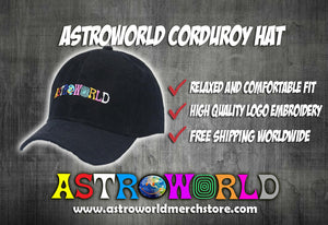 ASTROWORLD Corduroy Hat (Best Selling) 🔥 - AstroWorlds Merch【Limited Collection 】