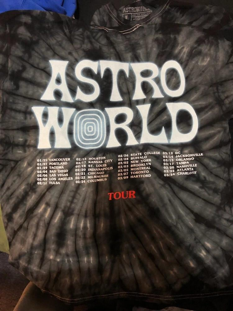 Tour Astronaut Gray Shirt (High Quality) - AstroWorlds Merch【Limited Collection 】