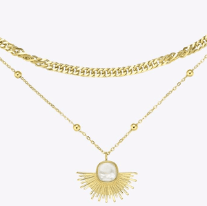 Rise Pearl Necklace