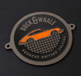 Black Nickel & Orange - Porsche Driving Culture Grill Badge - NEW