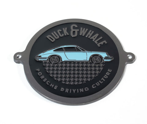 Black Nickel & Blue - Porsche Driving Culture Grill Badge - NEW