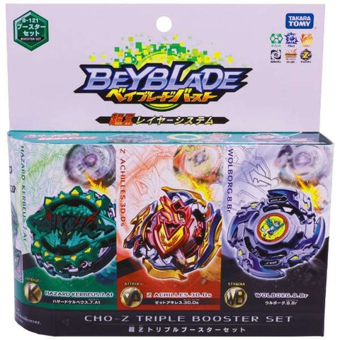 Takara tomy B 121 Beyblade Burst Turbo Pack Triple Booster