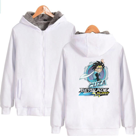 Sweat zippé à capuche<br>Beyblade Burst Evolution<br>Cuza Ackermann