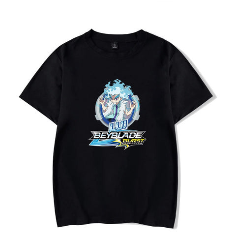 T-shirt Beyblade Burst Evolution Lui Shirosagi Noir