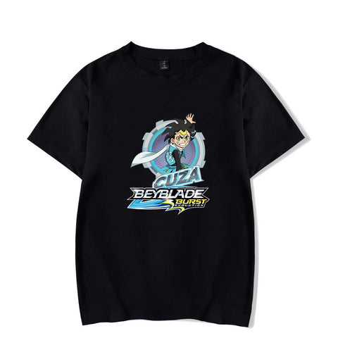 T-shirt Beyblade Burst Evolution Cuza Ackermann noir