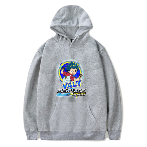 Sweat à capuche Beyblade Burst Evolution Valt Aoi gris