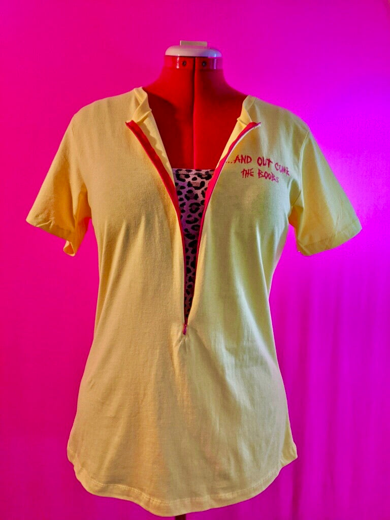 Headline Breastfeeding Shirt (Yellow/Red)