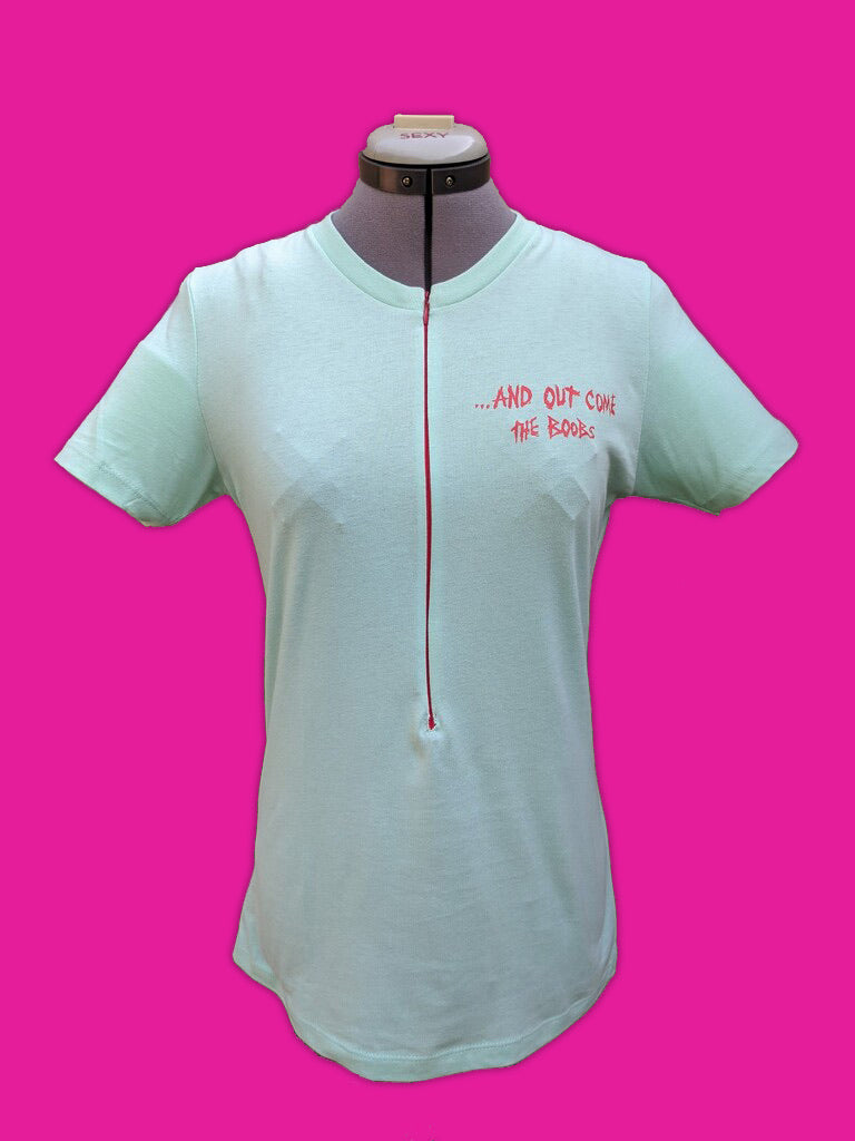 Headline Breastfeeding Shirt (Mint/Red)