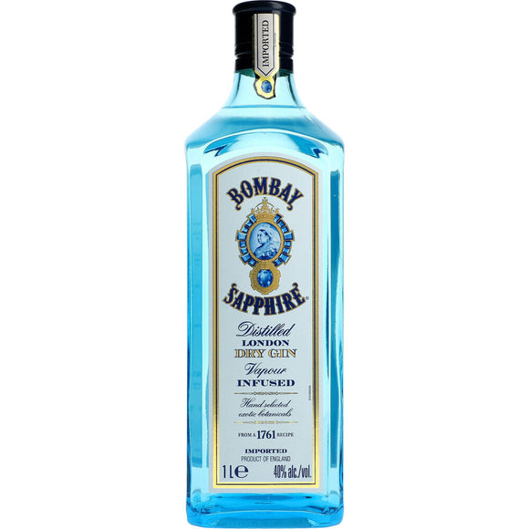 Name: Bombay Sapphire London Dry Gin Volume: 1L ABV: 40% Notes: Gin