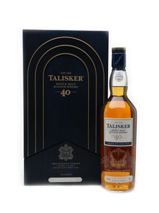 Distillery: Talisker Name: 40 Year Old 2018 Special Release Volume: 70CL ABV: 50% Notes: Special Editions : Scotland Origin: Carbost, Isle of Skye, Island, Scotland