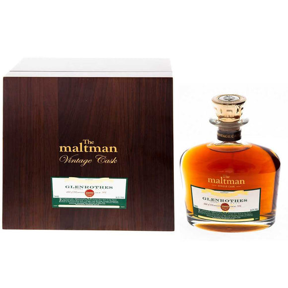 Distillery: The Glenrothes Name: Maltman Master Series 25 Years ( 1989 ) Volume: 70CL ABV: 48.2% Notes: Special Editions : Scotland Origin: Rothes, Speyside, Scotland