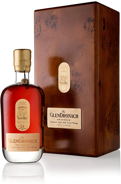 Distillery: Glendronach Name: Grandeur Batch 9 24 Years Volume: 70CL ABV: 48.7% Notes: Single Malt Origin: Aberdeenshire, Highland, Scotland