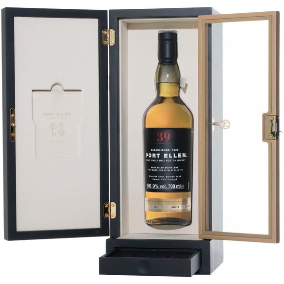 Distillery: Port Ellen Name: 39 Years 2019 Special Release Volume: 70CL ABV: 50.9% Notes: Special Editions : Scotland Origin: Scotland
