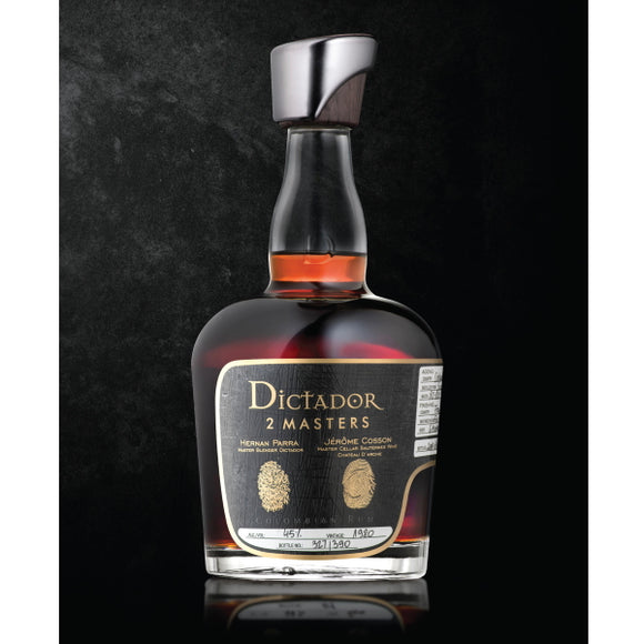 Dictador Rum - Fine And Rare - 2 Masters - Chateau D'Arche 1980 - 37 Years