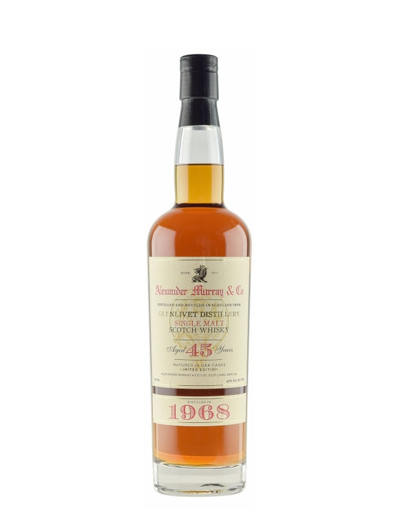 Distillery: The Glenlivet Name: 45 Years Alexander Murray & Co (1986) Volume: 70CL ABV: 40% Notes: Items Available At Singapore Only Origin: Ballindalloch, Speyside,