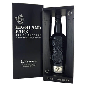 Distillery: Highland Park Name: 17 Years - The Dark Volume: 70CL ABV: 52.9% Notes: Single Malt Origin: Kirkwall, Island, Scotland