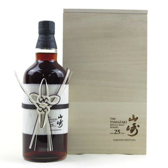 Distillery: Yamazaki Name: 25 Years Limited Edition Volume: 70CL ABV: 43% Notes: Special Editions : Japan Origin: Japan