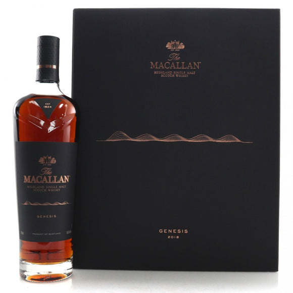 Distillery: The Macallan Name: Genesis 2018 ( Distillery Exclusive ) Volume: 70CL ABV: 45.5% Notes: Special Editions : Scotland Origin: Craigellachie, Speyside, Scotland