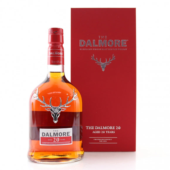 Distillery: The Dalmore Name: 20 Years Volume: 70CL ABV: 40% Notes: Single Malt Origin: Alness, Highland, Scotland