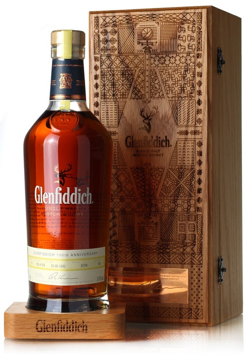 Distillery: Glenfiddich Name: 130 Anniversary Edition 25 Years Taiwan Edition Volume: 70CL ABV: 61.4% Notes: Special Editions : Scotland Origin: Dufftown, Speyside, Scotland