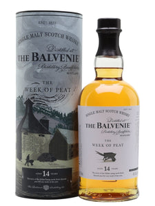 "Distillery: The Balvenie Name: 14 Years Stories ""The Week Of Peat"" Volume: 70CL ABV: 48.3% Notes: Single Malt Origin: Dufftown, Speyside, Scotland"