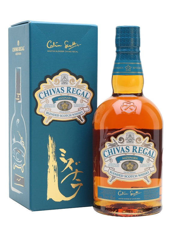 Distillery: Chivas Regal Name: Mizunara Volume: 70CL ABV: 40% Notes: Blended Malt Origin: Speyside, Scotland