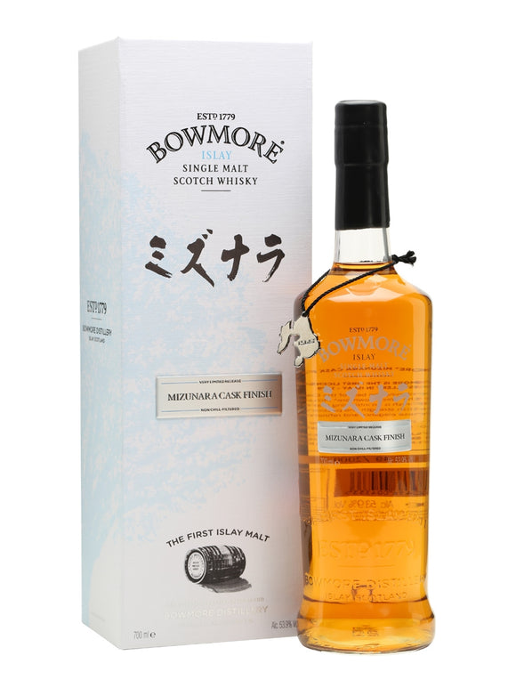 Distillery: Bowmore Name: Mizunara Volume: 70CL ABV: 53.9% Notes: Special Editions : Scotland Origin: Bowmore, Islay, Scotland