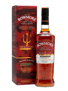 Distillery: Bowmore Name: 10 Years Devil's Cask, Limited Release 3 Volume: 70CL ABV: 56.7% Notes: Single Malt Origin: Bowmore, Islay, Scotland