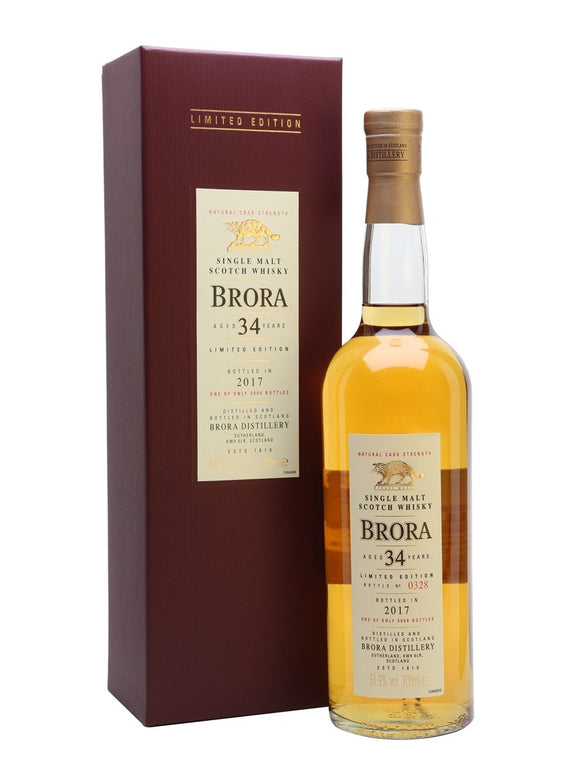 Distillery: Brora Name: 34 Years ( 2017 Special Edition Release ) Volume: 70CL ABV: 51.9% Notes: Special Editions : Scotland Origin: Scotland