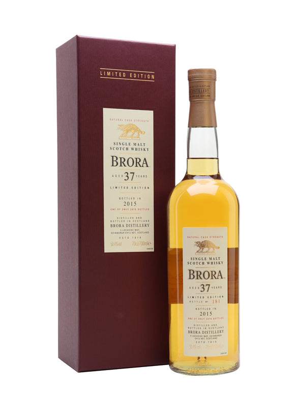 Distillery: Brora Name: 37 Years ( 2015 Special Edition Release ) Volume: 70CL ABV: 50.4% Notes: Special Editions : Scotland Origin: Scotland