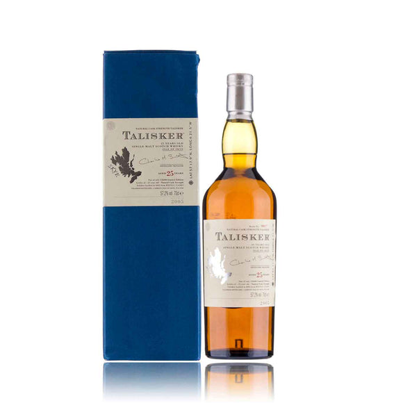 Distillery: Talisker Name: 25 Years ( 2005 Edition ) Volume: 70CL ABV: 57.2% Notes: Single Malt Origin: Carbost, Isle of Skye, Island, Scotland