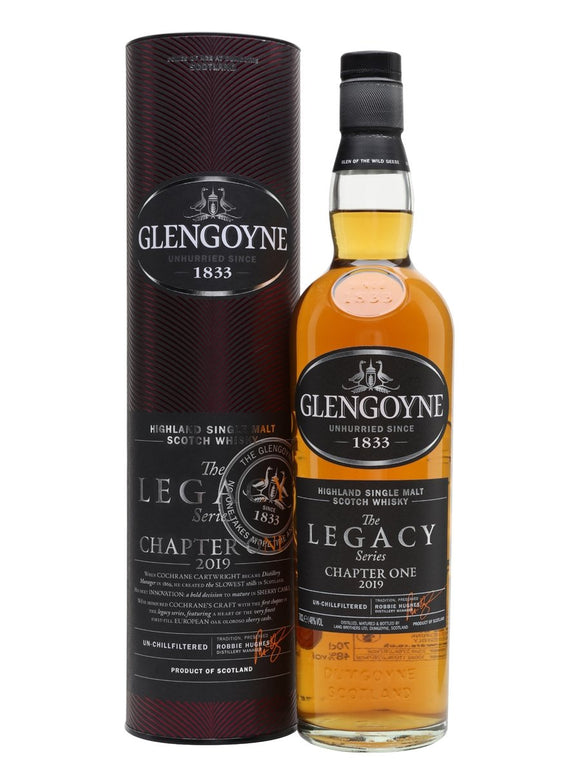 Distillery: Glengoyne Name: The Legacy Series Chapter One Volume: 70CL ABV: 48% Notes: Single Malt Origin: Dumgoyne, Highland, Scotland