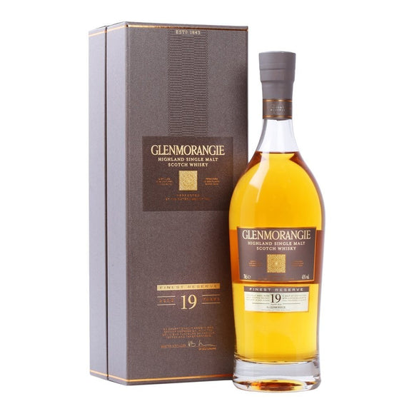 Distillery: Glenmorangie Name: 19 Years Volume: 70CL ABV: 43% Notes: Single Malt Origin: Tain, Highland, Scotland
