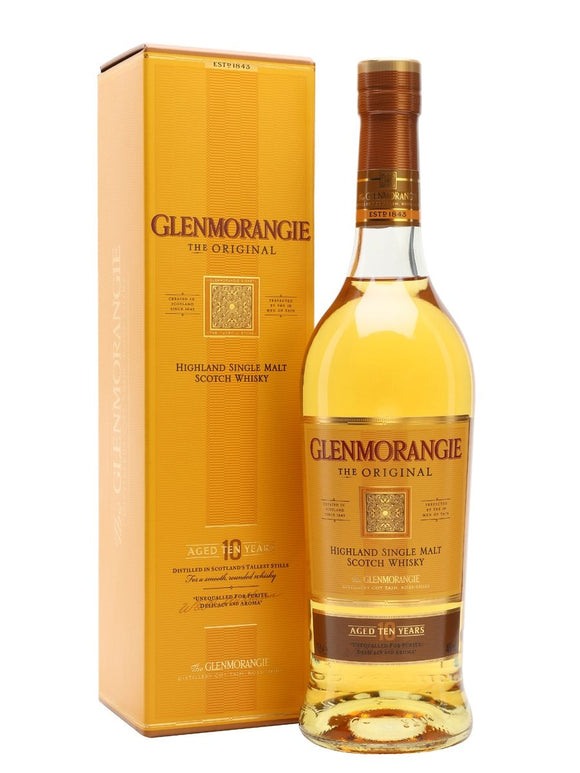 Distillery: Glenmorangie Name: 10 Years The Original Volume: 70CL ABV: 40% Notes: Single Malt Origin: Tain, Highland, Scotland